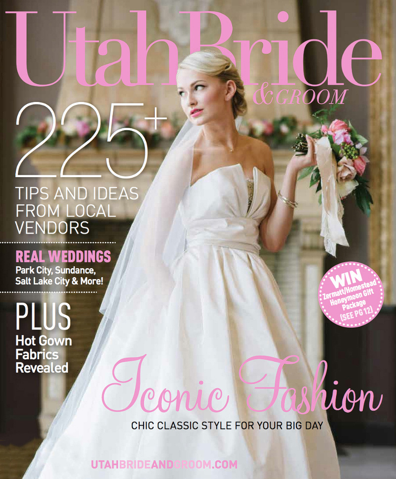 Utah Bride & Groom Magazine Cover Spring/Fall